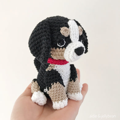 Made to Order BERNESE MOUNTAIN DOG crochet amigurumi