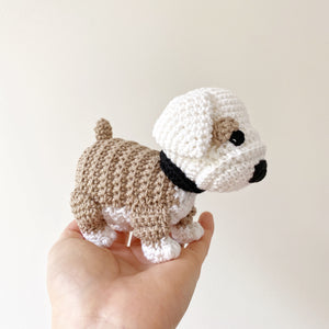 Made to Order BULLDOG crochet amigurumi