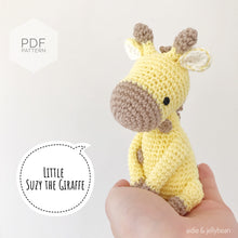 "Load image into Gallery viewer, AMIGURUMI PATTERN/ tutorial (English) Amigurumi Giraffe ""Little Suzy the Giraffe"" pdf - US terminology"