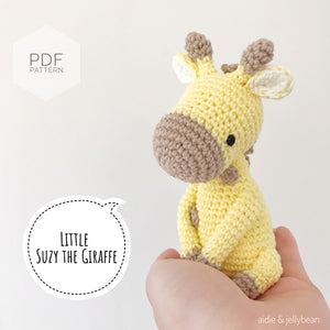 "AMIGURUMI PATTERN/ tutorial (English) Amigurumi Giraffe ""Little Suzy the Giraffe"" pdf - US terminology"