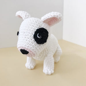 "AMIGURUMI PATTERN/ tutorial (English) Amigurumi Bull Terrier - ""Cassie the Bull Terrier Puppy"" pdf - US terminology"