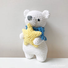 "Load image into Gallery viewer, AMIGURUMI PATTERN/ tutorial (English) Amigurumi Polar Bear - ""Astro the Polar Bear"" pdf - US terminology"