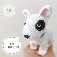 "Load image into Gallery viewer, AMIGURUMI PATTERN/ tutorial (English) Amigurumi Bull Terrier - ""Cassie the Bull Terrier Puppy"" pdf - US terminology"
