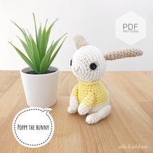 "Load image into Gallery viewer, AMIGURUMI PATTERN/ tutorial (English) Amigurumi Bunny - ""Poppy the Bunny"" pdf - US terminology"