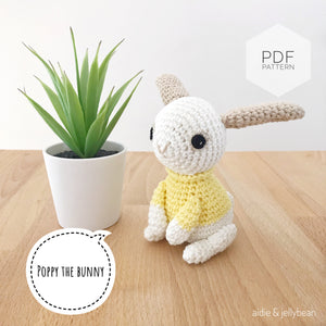 "AMIGURUMI PATTERN/ tutorial (English) Amigurumi Bunny - ""Poppy the Bunny"" pdf - US terminology"