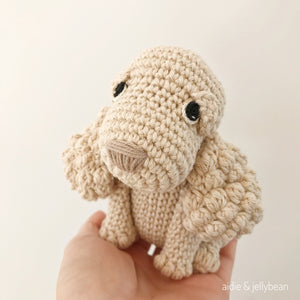 "AMIGURUMI PATTERN/ tutorial (English) Amigurumi Spaniel Dog - ""Sophie the Spaniel Puppy"" pdf - US terminology"