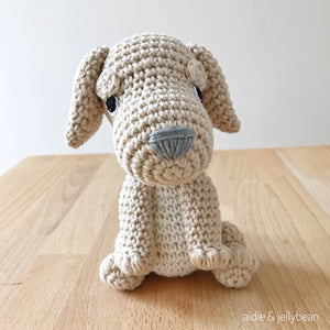 "AMIGURUMI PATTERN/ tutorial (English) Amigurumi Golden Retriever - ""Annie the Golden Retriever Puppy"" pdf - US terminology"