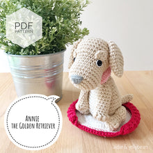 "Load image into Gallery viewer, AMIGURUMI PATTERN/ tutorial (English) Amigurumi Golden Retriever - ""Annie the Golden Retriever Puppy"" pdf - US terminology"