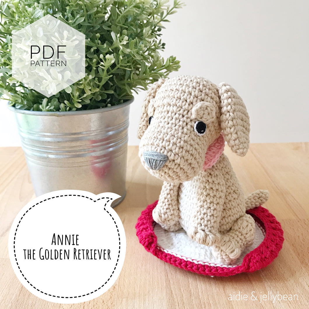 AMIGURUMI PATTERN/ tutorial (English) Amigurumi Golden Retriever -