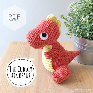 "AMIGURUMI PATTERN/ tutorial (English) Amigurumi Dinosaur - ""The Cuddly Dinosaur"" pdf - US terminology"