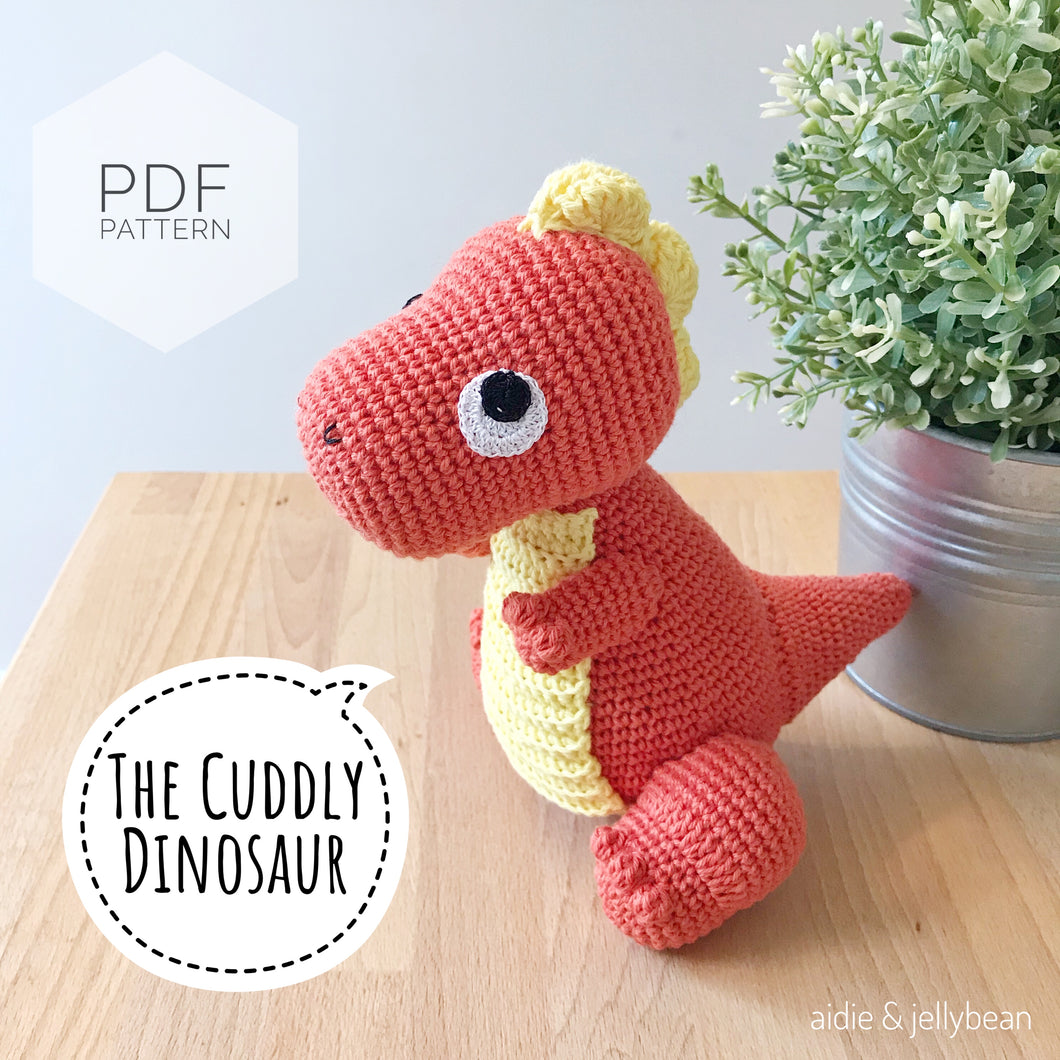 AMIGURUMI PATTERN/ tutorial (English) Amigurumi Dinosaur -