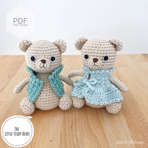 "AMIGURUMI PATTERN/ tutorial (English) Amigurumi Teddy Bear ""The Little Teddy Bears"" pdf - US terminology"