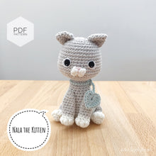 "Load image into Gallery viewer, AMIGURUMI PATTERN/ tutorial (English) Amigurumi Cat - ""Nala the Kitten Pattern"" pdf - US terminology"