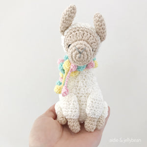"AMIGURUMI PATTERN/ tutorial (English) Amigurumi Llama- ""Lolly the Llama"" pdf - US terminology"