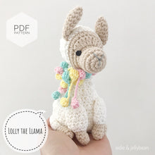"Load image into Gallery viewer, AMIGURUMI PATTERN/ tutorial (English) Amigurumi Llama- ""Lolly the Llama"" pdf - US terminology"