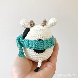 "AMIGURUMI PATTERN/ tutorial (English) Amigurumi Cow ""Egg Shaped Animals - Mr. Cow"" pdf - US terminology"