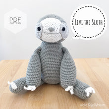 "Load image into Gallery viewer, AMIGURUMI PATTERN/ tutorial (English) Amigurumi Sloth - ""Levi the Sloth Pattern"" pdf - US terminology"