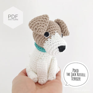 "AMIGURUMI PATTERN/ tutorial (English) Amigurumi Jack Russell Terrier  - ""Poco the Jack Russell Terrier Puppy"" pdf - US terminology"
