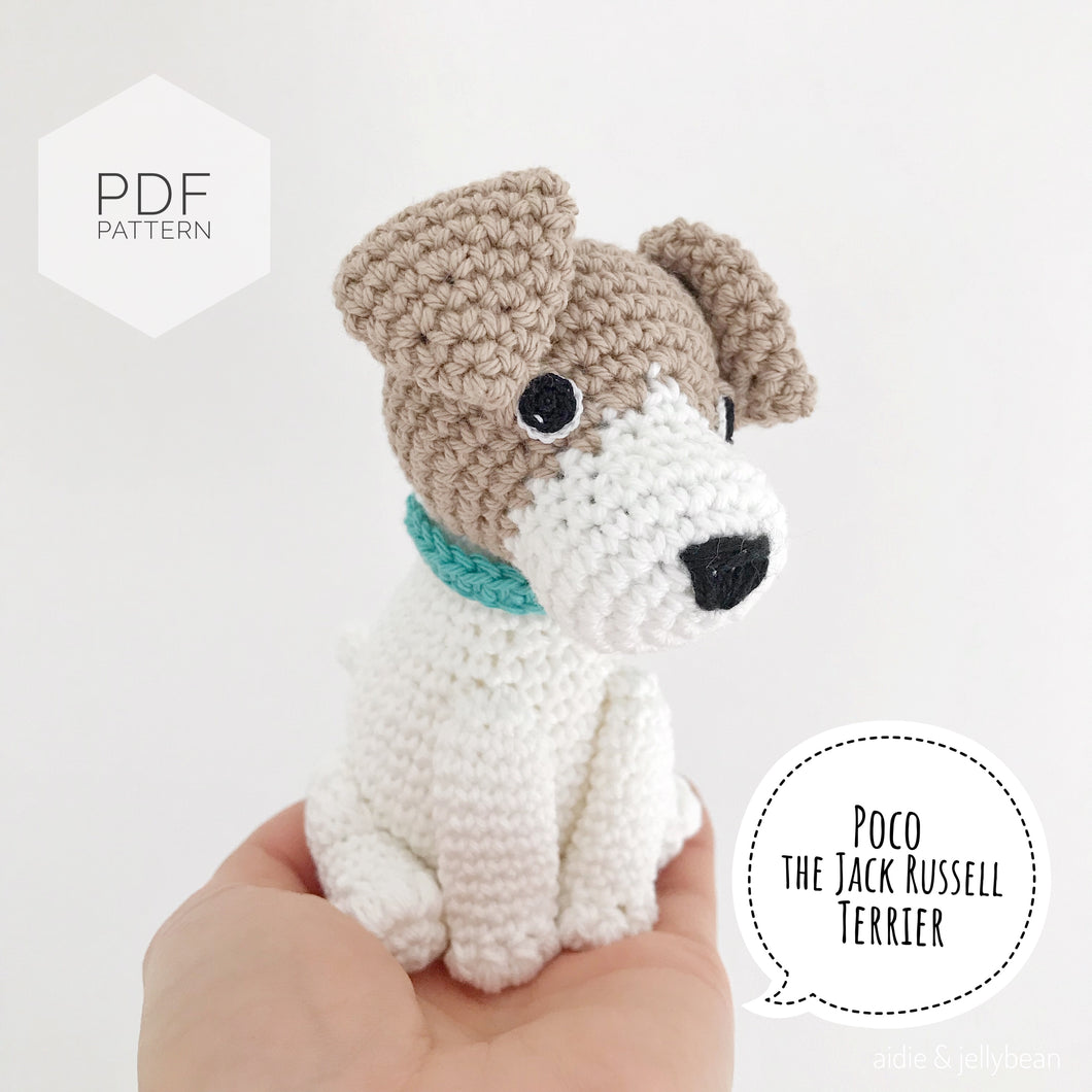 AMIGURUMI PATTERN/ tutorial (English) Amigurumi Jack Russell Terrier  -