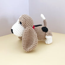 "Load image into Gallery viewer, AMIGURUMI PATTERN/ tutorial (English) Amigurumi Basset Hound Dog - ""Sadie the Basset Hound Puppy"" pdf - US terminology"