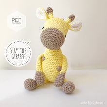 "Load image into Gallery viewer, AMIGURUMI PATTERN/ tutorial (English) Amigurumi Giraffe ""Suzy the Sweet Giraffe"" pdf - US terminology"