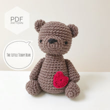 "Load image into Gallery viewer, AMIGURUMI PATTERN/ tutorial (English) Amigurumi Teddy Bear ""The Little Teddy Bear"" pdf - US terminology"
