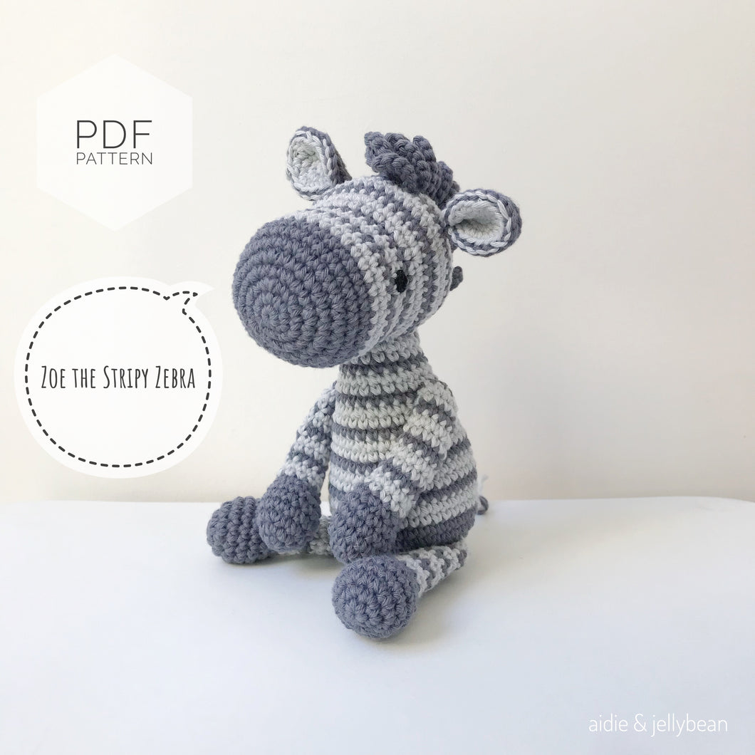 AMIGURUMI PATTERN/ tutorial (English) Amigurumi Zebra