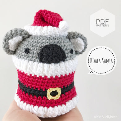 AMIGURUMI PATTERN/ tutorial (English) Amigurumi Koala Santa