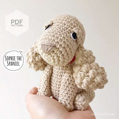 AMIGURUMI PATTERN/ tutorial (English) Amigurumi Spaniel Dog -