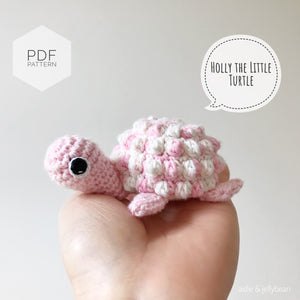 "AMIGURUMI PATTERN/ tutorial (English) Amigurumi Turtle ""Holly the Little Turtle"" pdf - US terminology"