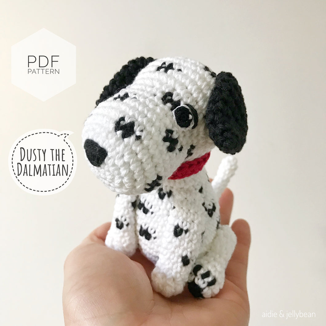 AMIGURUMI PATTERN/ tutorial (English) Amigurumi Dalmatian Dog -