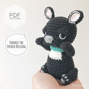 "AMIGURUMI PATTERN/ tutorial (English) Amigurumi French Bulldog - ""Frankie the French Bulldog Puppy"" pdf - US terminology"