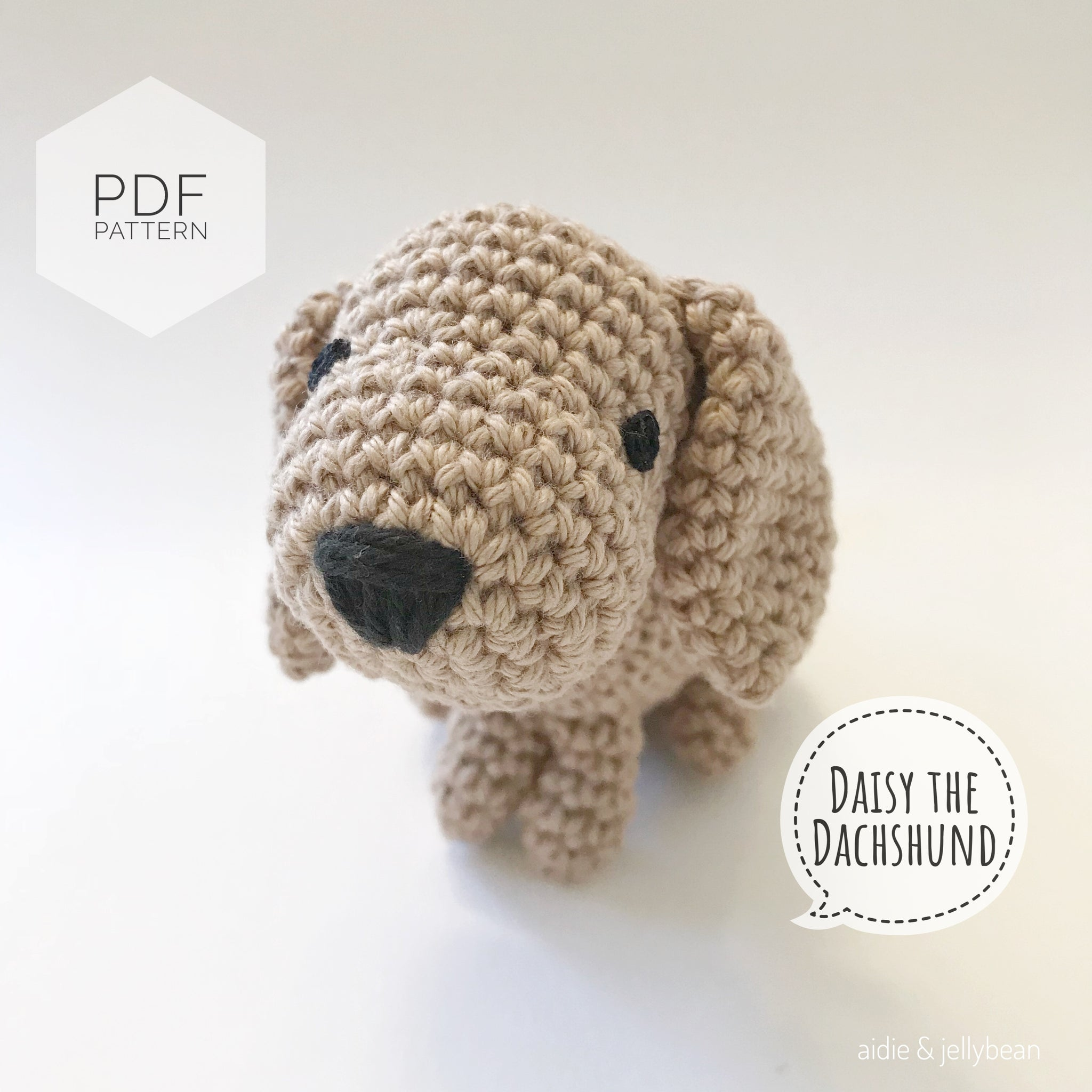 Crochet Sausage dog pattern – Helloseattle | 2048x2048