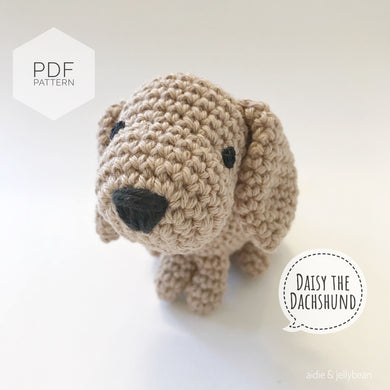 AMIGURUMI PATTERN/ tutorial (English) Amigurumi Dachshund Dog -