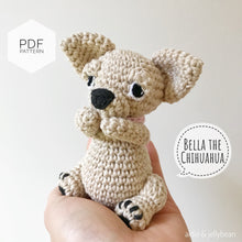 "Load image into Gallery viewer, AMIGURUMI PATTERN/ tutorial (English) Amigurumi Chihuahua Dog - ""Bella the Chihuahua Puppy"" pdf - US terminology"