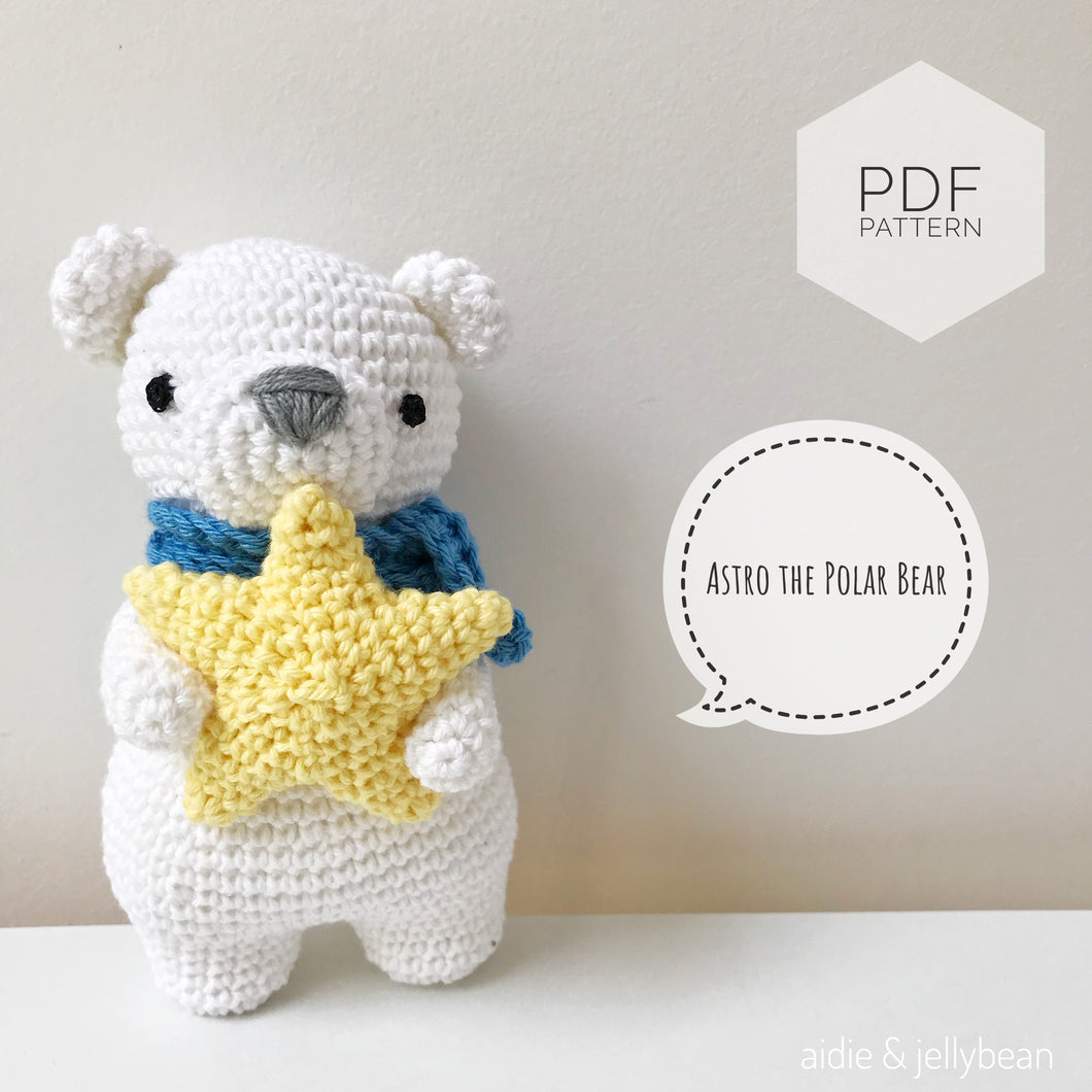AMIGURUMI PATTERN/ tutorial (English) Amigurumi Polar Bear -