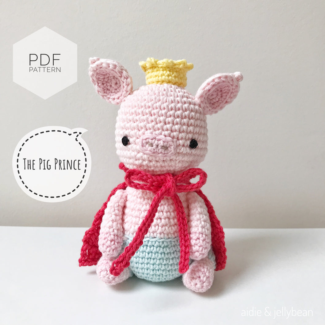 AMIGURUMI PATTERN/ tutorial (English) Amigurumi Pig -