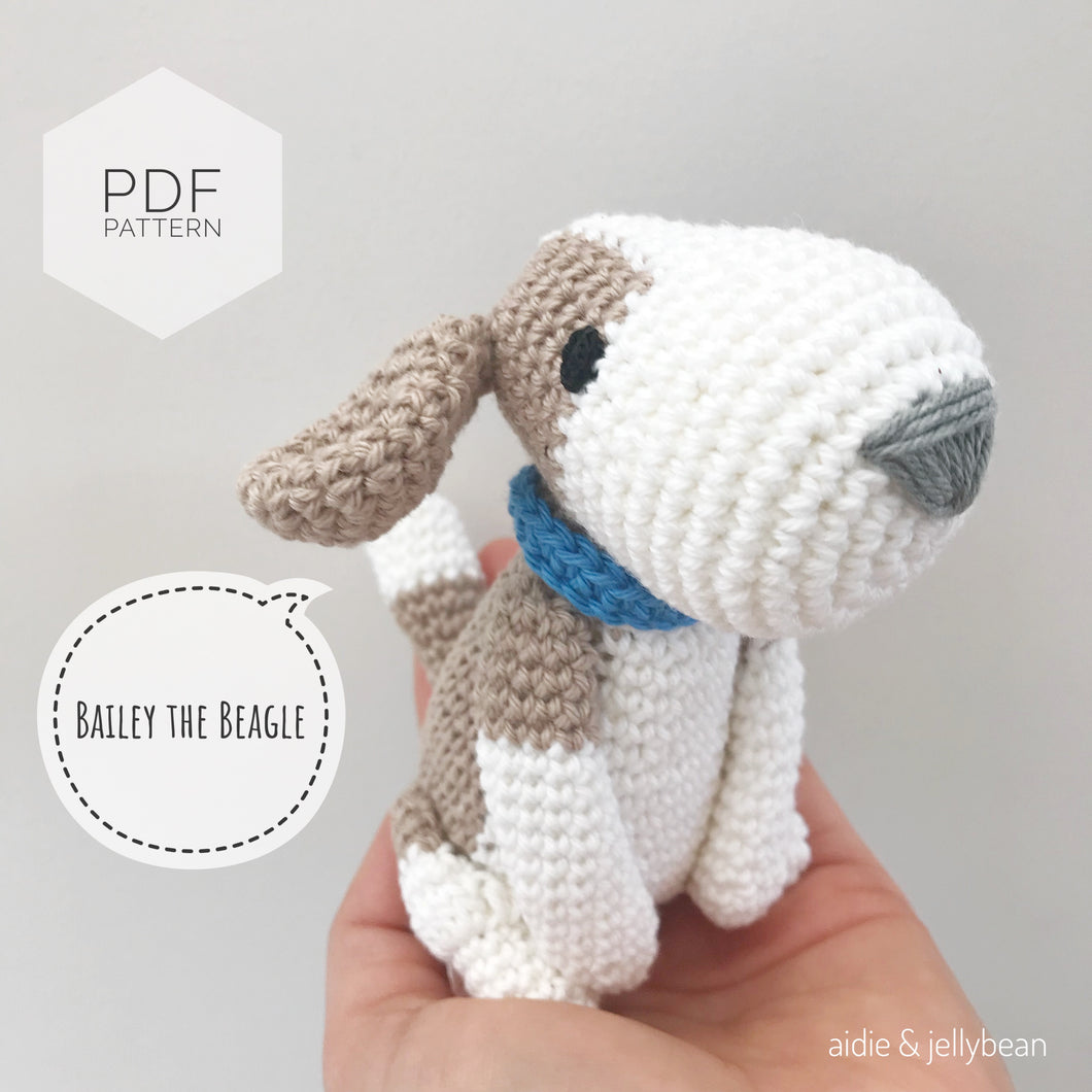AMIGURUMI PATTERN/ tutorial (English) Amigurumi Beagle Dog -