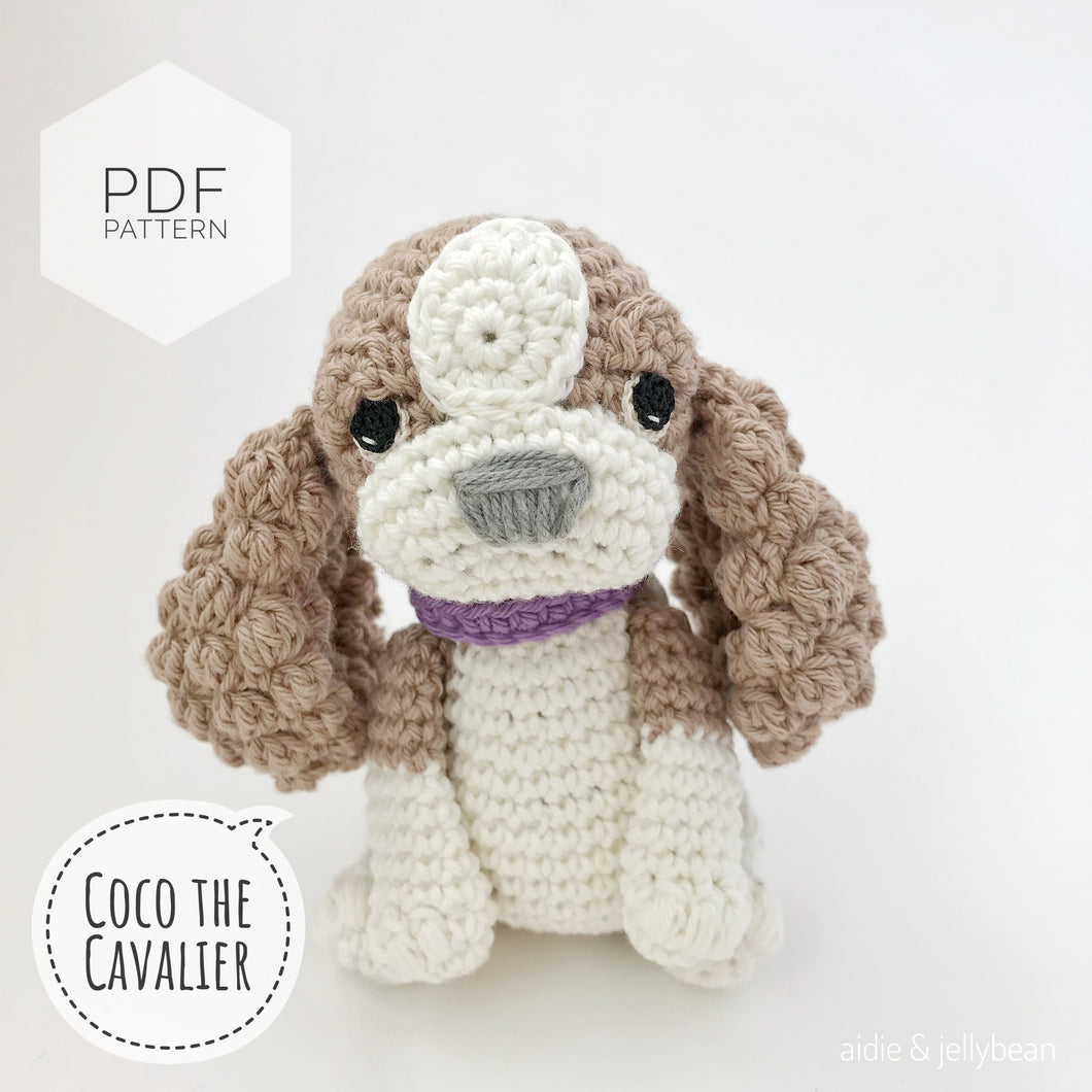 AMIGURUMI PATTERN/ tutorial (English) Amigurumi Cavalier Dog -