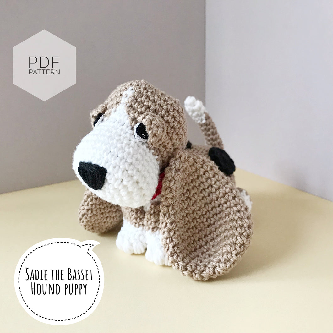 AMIGURUMI PATTERN/ tutorial (English) Amigurumi Basset Hound Dog -