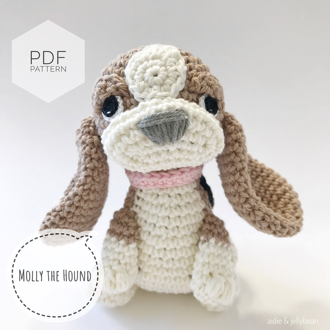 AMIGURUMI PATTERN/ tutorial (English) Amigurumi Hound Dog -