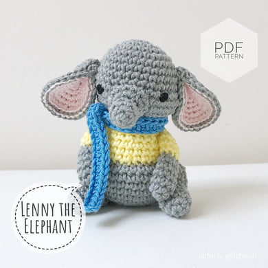AMIGURUMI PATTERN/ tutorial (English) Amigurumi Elephant -