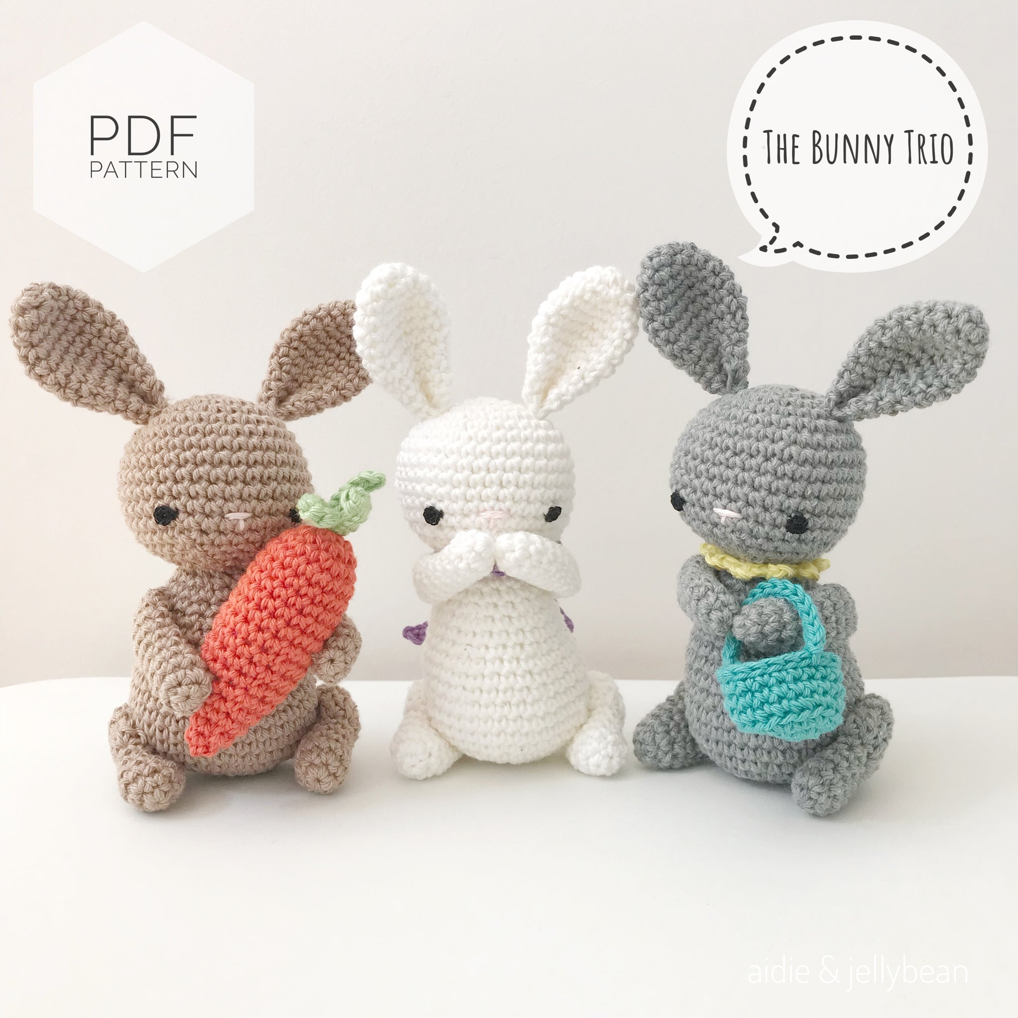 PATTERN: BUNNY RABBIT crochet amigurumi pattern #1902 | Crochet ... | 2048x2048