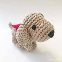 "Load image into Gallery viewer, AMIGURUMI PATTERN/ tutorial (English) Amigurumi Dachshund Dog - ""Daisy the Dachshund Puppy"" pdf - US terminology"