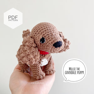 "AMIGURUMI PATTERN/ tutorial (English) Amigurumi Cavoodle  - ""Millie the Cavoodle puppy"" pdf - US terminology"