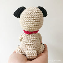 "Load image into Gallery viewer, AMIGURUMI PATTERN/ tutorial (English) Amigurumi Pug Dog - ""Ollie the Pug Puppy"" pdf - US terminology"