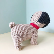 "Load image into Gallery viewer, AMIGURUMI PATTERN/ tutorial (English) Amigurumi Pug Dog - ""Oscar the Pug Puppy"" pdf - US terminology"