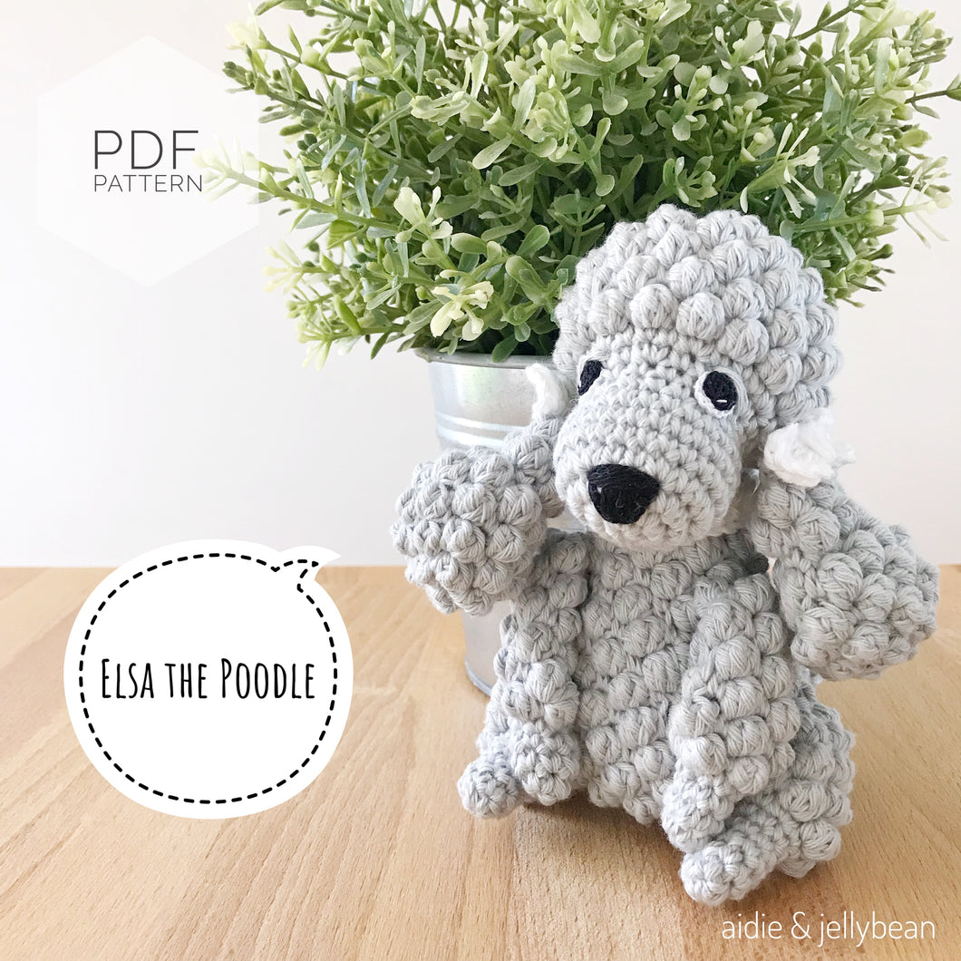 AMIGURUMI PATTERN/ tutorial (English) Amigurumi Poodle Dog -