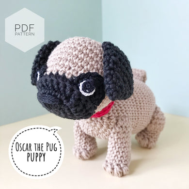 AMIGURUMI PATTERN/ tutorial (English) Amigurumi Pug Dog -