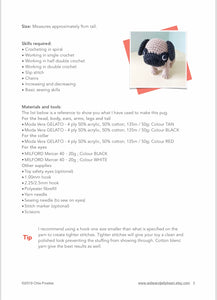 "AMIGURUMI PATTERN/ tutorial (English) Amigurumi Pug Dog - ""Oscar the Pug Puppy"" pdf - US terminology"